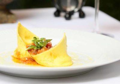 Queijo da Itália: Agnolotti al castelmagno, do chef Pasquale Mancini