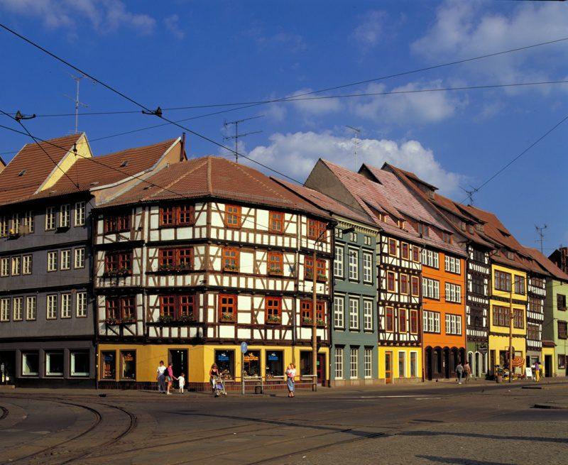 Praça Domplatz, na cidade de Erfurt. (Foto: divulgação)