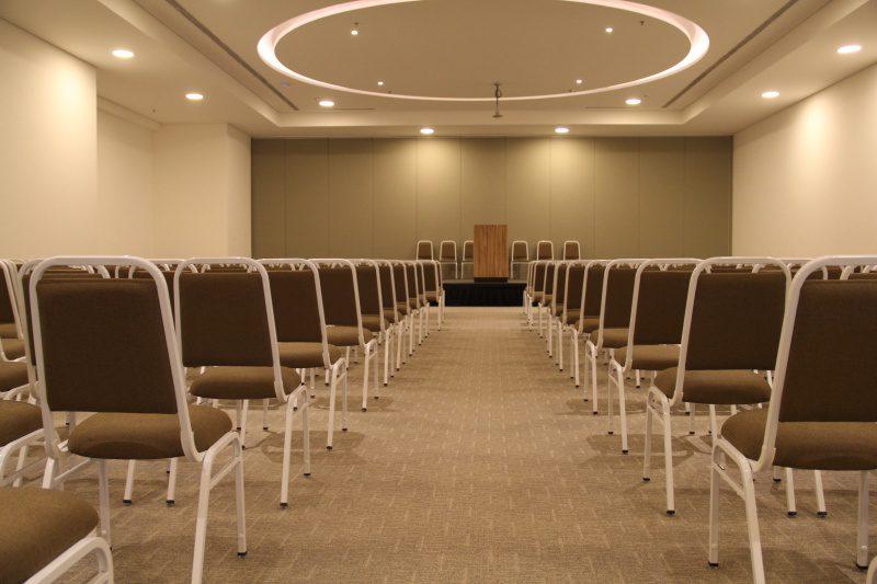 Centro de Convenções: espaços moduláveis e com capacidade para receber até 600 pessoas (Foto: DT)