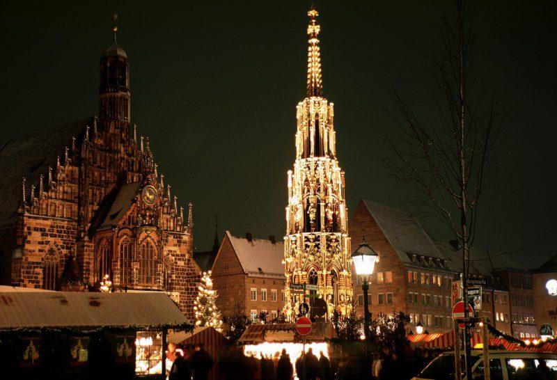Mercado de Natal, em Nuernberg. (Foto: divulgação)