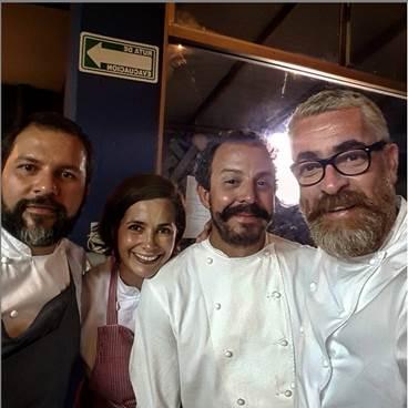 Alex Atala e chefs mexicanos comemoram aniversário de Restaurante Manzilla