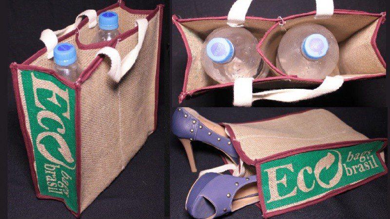 Sacola, modelo Iranduba: IRANDUBA - Medidas: 28 x 30 x 9 cm - Possui uma divisória no meio. Ideal para levar para o supermercado e carregar bebidas. Também serve para carregar calçados (Foto: divulgação)