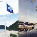 Praia do Guarujá recebe pela sexta vez a Bandeira Azul