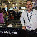Delta Airlines divulga seus produtos na WTM Latin America