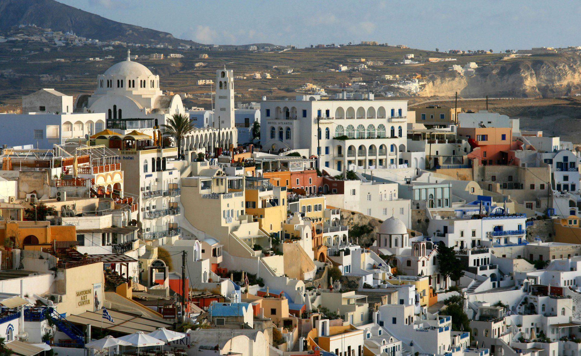 Santorini, na Grécia. (Foto: divulgação)