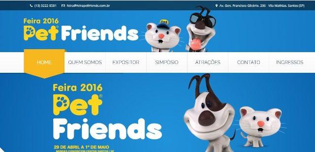 O hotel é parceiro do evento Pet Friends que acontece de 29 de abril a 1º de maio em Santos
