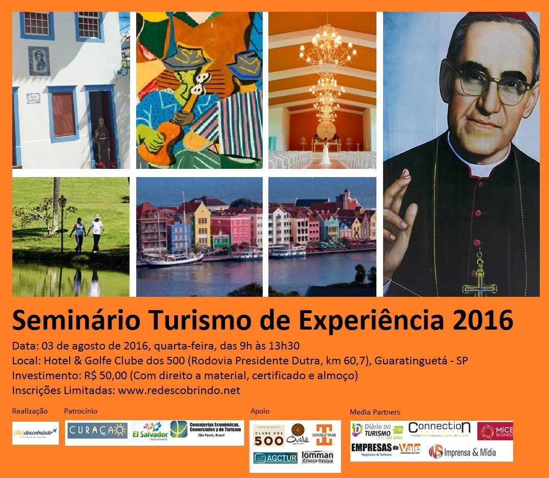 Banner do Seminário Turismo de Experiência