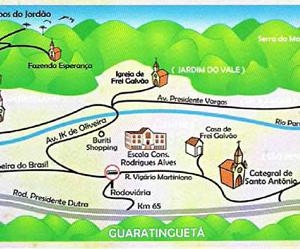 Roteiro turístico de Frei Galvão (Arte: Secretaria de Turismo de Guaratinguetá)