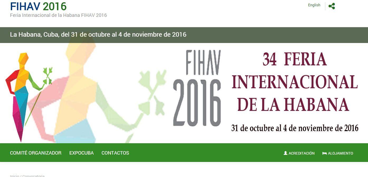 A FIHAV acontece em Havana, de 31 de outubro a 4 de novembro de 2016