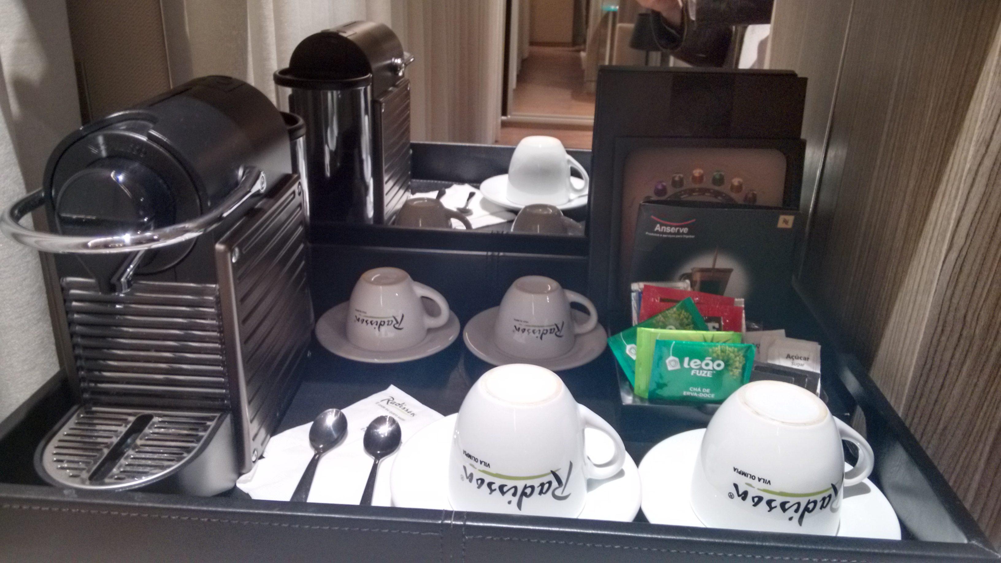 Cafeteira Nespreso é um item oferecido nos apartamentos