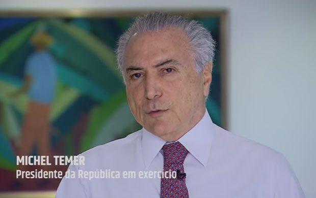 Presidente em exercício, Michel Temer, em vídeo, garante segurança nas Olimpíadas (Veja)
