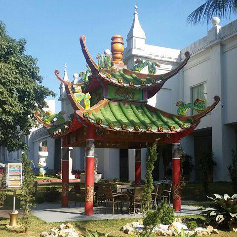 tenda oriental, um espaço com a temática zen que remete às culturas asiáticas