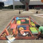 Eduardo Kobra anuncia que fará 1º Chalk Festival Brasil no Memorial AL, em São Paulo