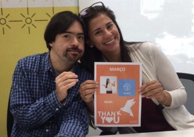 Luis Octávio, colaborador do Grupo Gaia, e Mariana Scofano, gestora do projeto (Foto: Divulgação)