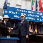 Cerimônia da moeda do MSC Seaview é realizada na Itália