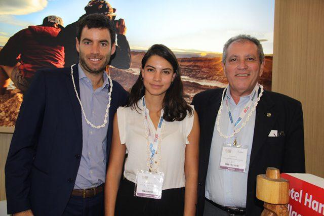 Executivos do grupo chileno Transoceanica divulgam hotéis na WTM