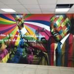 Eduardo Kobra está em Murcia, na Espanha, depois de pintar murais na África a convite de Madonna