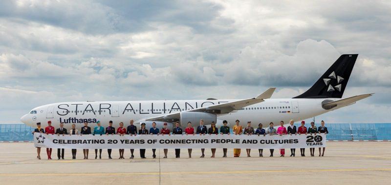 Tripulantes das 28 companhias áereas que fazem parte da Star Alliance (Foto: divulgação)