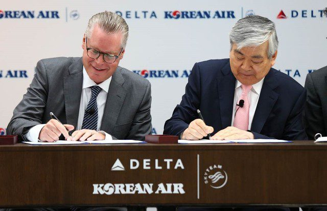 Acordo entre Delta Air Lines e Korean Air resulta em joint venture