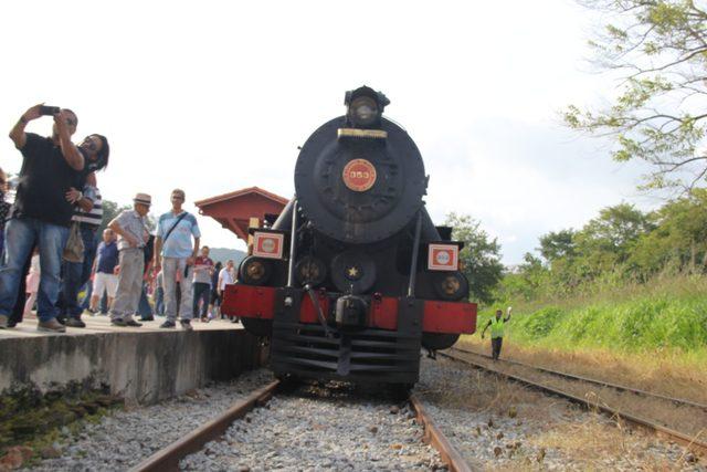 O passeio de Maria-Fumaça é um dos pontos altos da visita à Guararema (Foto: DT)