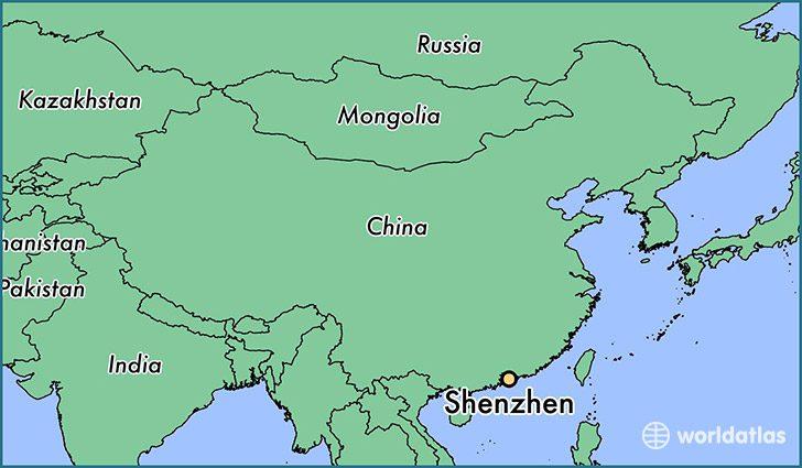 Shenzhen fica no sul da China