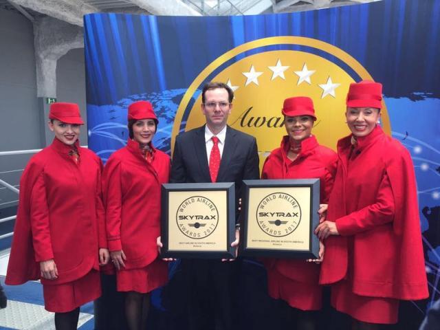 Avianca é eleita a melhor companhia aérea da América do Sul no Prêmio Skytrax 2017