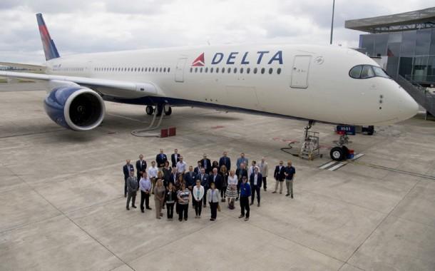 Delta recebe sua primeira aeronave Airbus A350-900