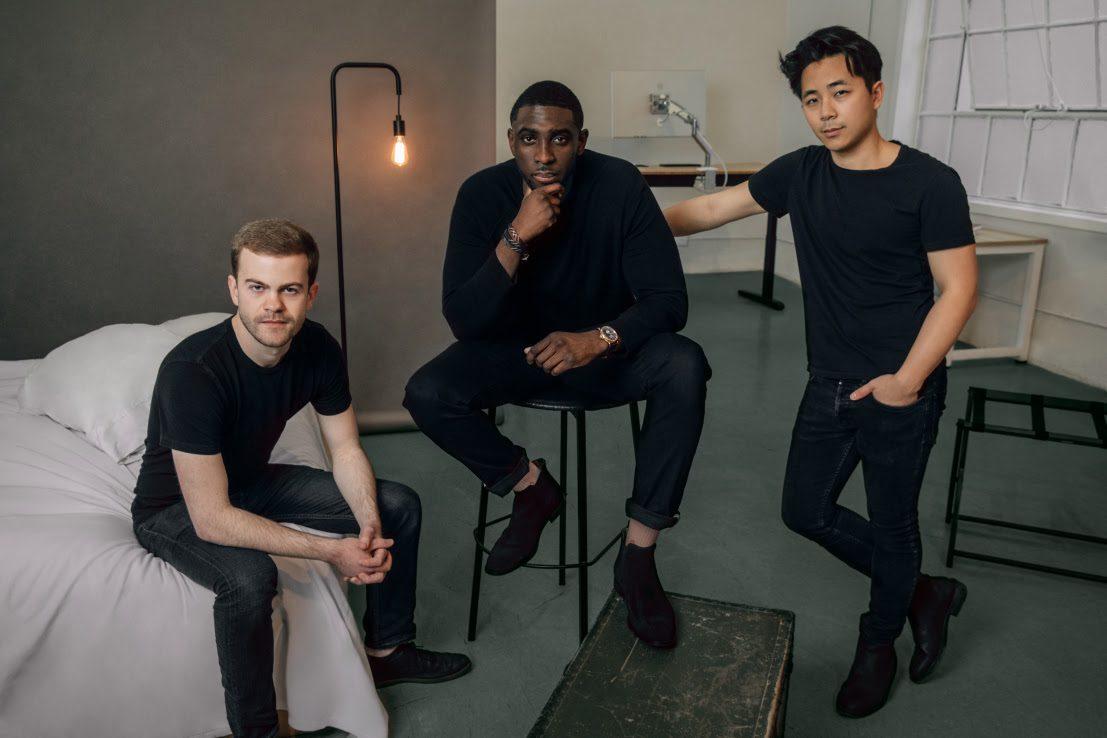 O trio do Recharge: Will Johnson, Emmanuel Bamfo e Chris Lo