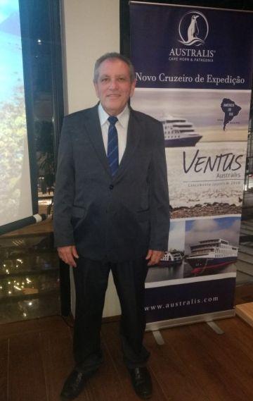 João Araújo, representante comercial da Australis Cruzeiros no Brasil (Foto: DT)