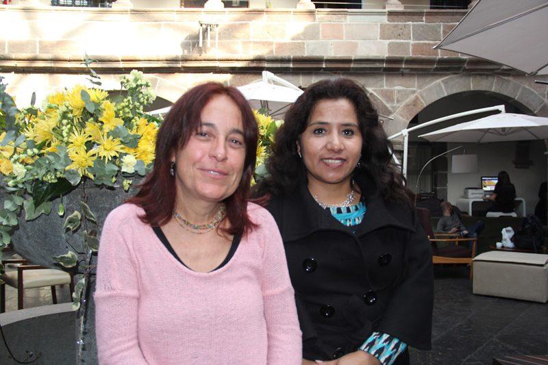 Coordenadoras da Kallpa Associación: Maria Belén Arroniz Salinas e Shirley Palomino Oliveira (Foto: DT)