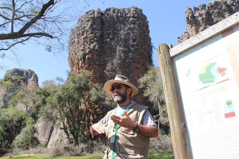 """""""Cada vez que venho aqui me surpreendo com alguma coisa nova"""", conta o guia de turismo Murici Leal."""
