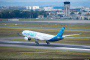 Primeiro A330neo conclui com sucesso o seu voo inaugural e pousa em Toulouse-Blagnac, na França