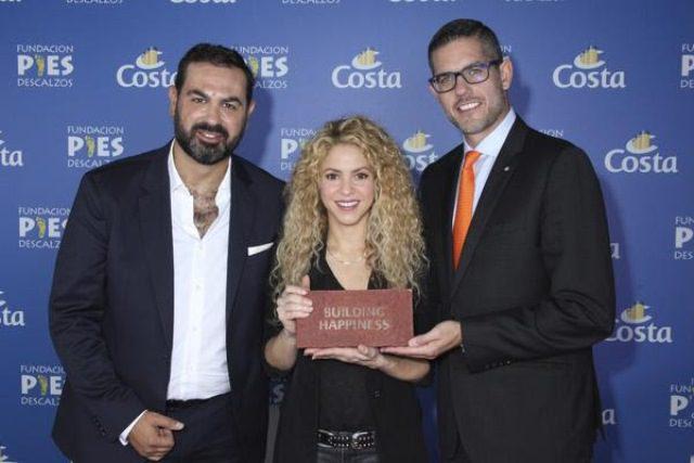 Costa Cruzeiros e Shakira se unem para construção de escola em Cartagena