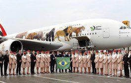 Emirates celebra 10 anos no Brasil