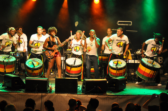 Olodum participa do Ano Novo na Costa do Sauípe