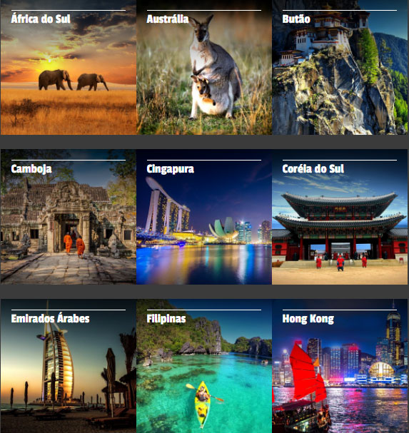 Site novo: plataforma moderna desperta nos viajantes o desejo de conhecer os destinos que a Asia Total é especialista