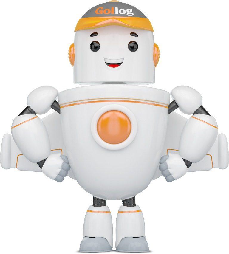 Gil é o nome do robô de atendimento online da Gollog