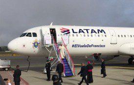 Latam transporta o Papa Francisco em sua atual viagem pela América do Sul