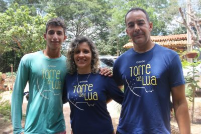 Eduardo, Cinthia e Wellington, do Torre da Lua
