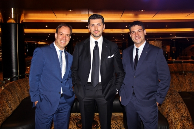 Adrian Ursili, Achille Staiano, Ignacio Palacios (Diretor Geral, Chief Sales Officer MSC, Diretor Comercial e de Renevue)