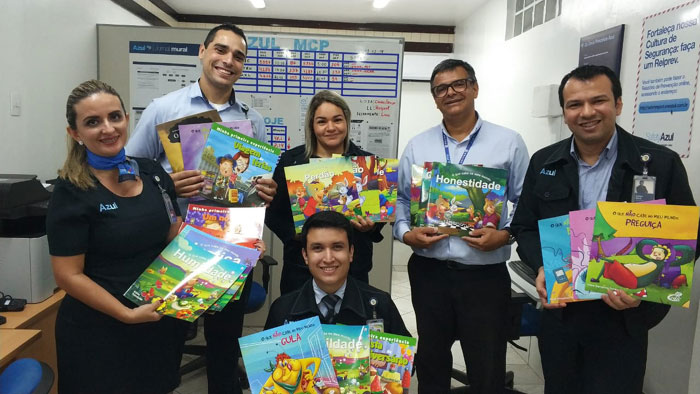 Representantes do Programa de Voluntariado Azul também participam de atividades de formação (Crédito: divulgação)
