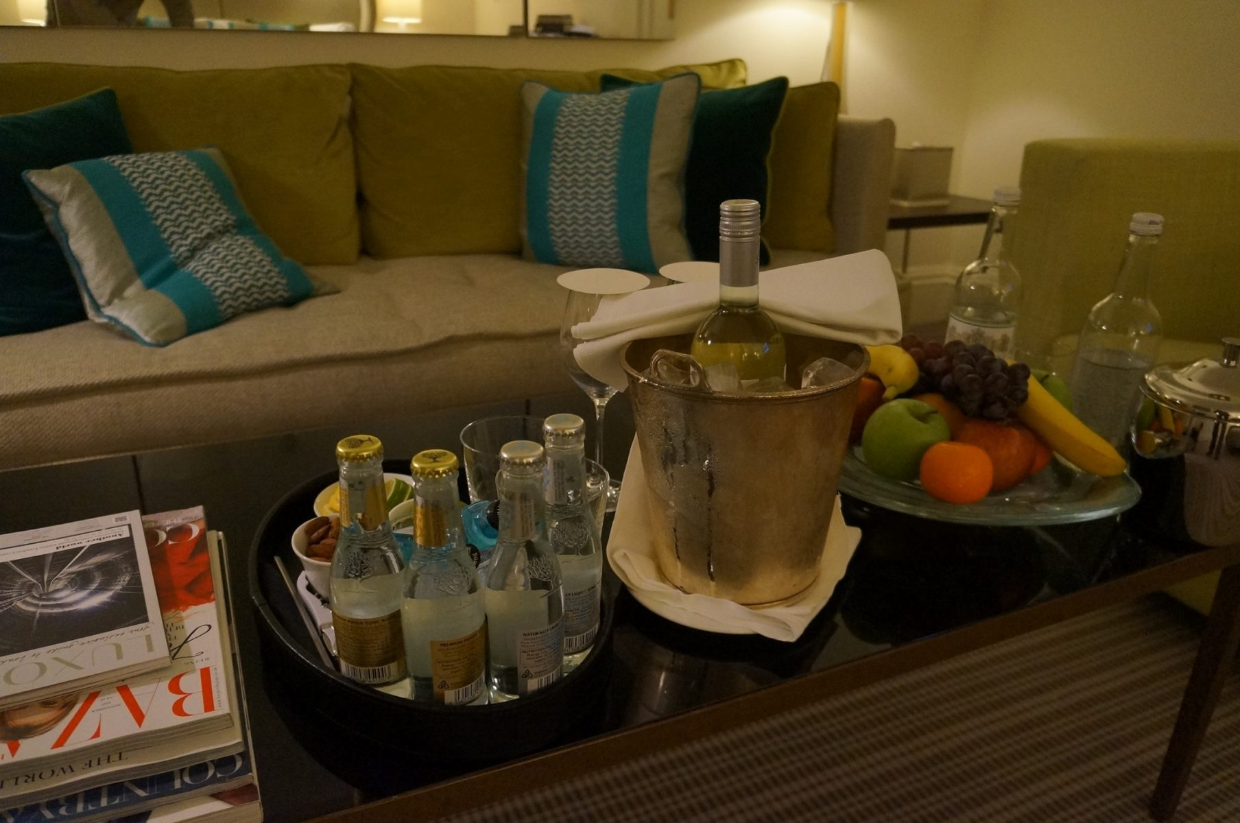 Mimos na suíte no Hotel Brown's