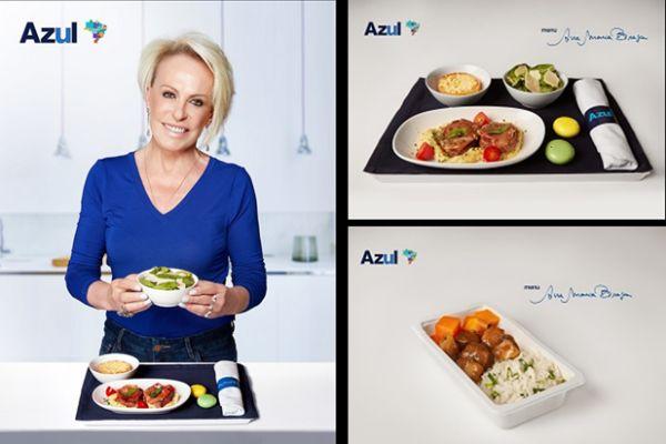 Ana Maria Braga assina o menu de bordo da Azul Linhas Aéreas no mês de maio
