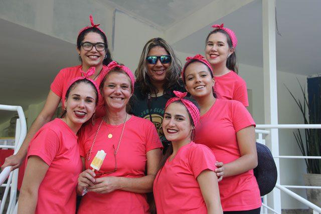 Nossa visita teve o apoio das alunas de administração da ETEC de Ribeirão Pires