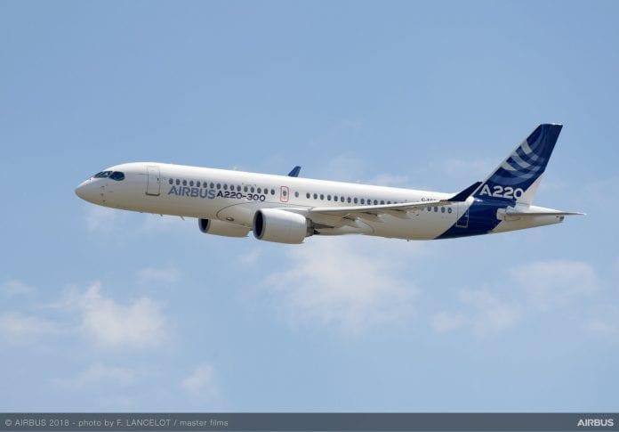 Nova aérea dos Estados Unidos assina termo para compra de 60 aeronaves A220-300