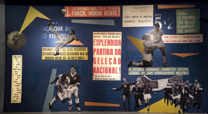 Seleção brasileira de 58 tem exposição