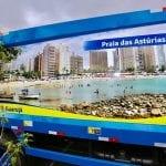 Outdoors ambulantes ressaltam belezas de Guarujá