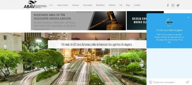 Novo site da Abav-SP fica mais interativo com o agente de viagem