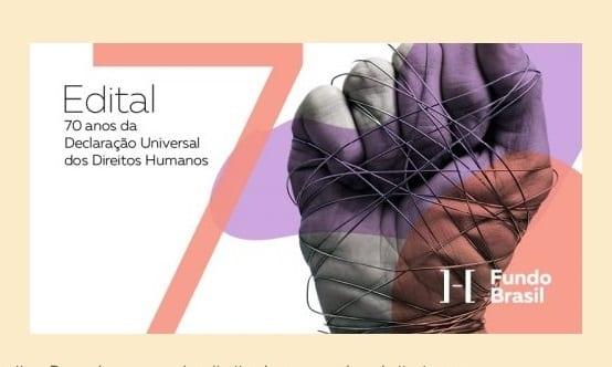 Fundo Brasil oferece R$ 800 mil a projetos de defesa dos direitos humanos