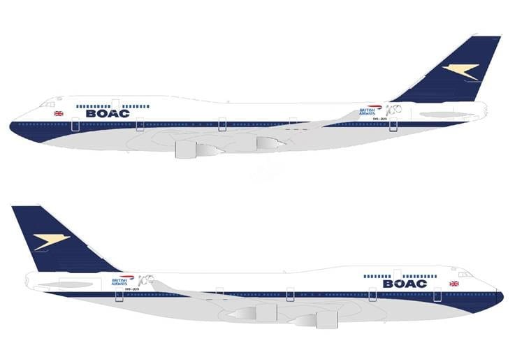 British Airways vai pintar aeronaves com designs retrô para marcar centenário